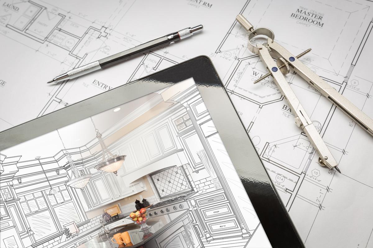 architectural blueprints tablet design sample